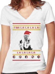 Tra la la la la Women's Fitted V-Neck T-Shirt