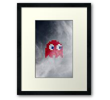 Pac-Man Red Ghost Framed Print
