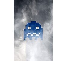 Pac-Man Blue Ghost Photographic Print
