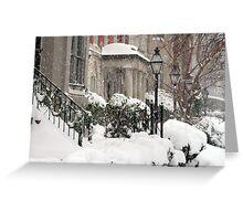Snow On R Street Greeting Card