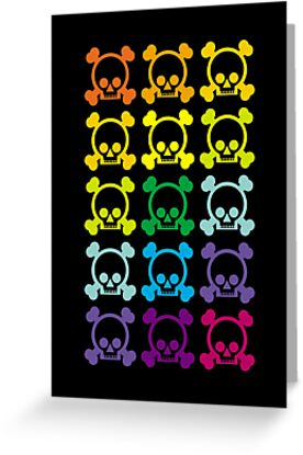 Rainbow Skulls by MrAparagi