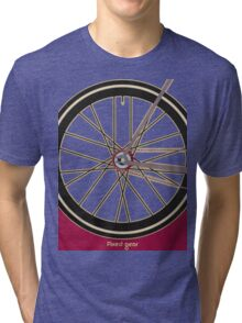 Single Speed Bicycle Tri-blend T-Shirt