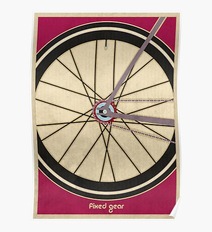 Single Speed Bicycle Poster