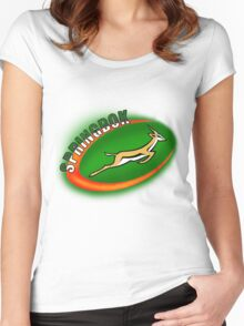 SPRINGBOK RUGBY SOUTH AFRICA Women's Fitted Scoop T-Shirt