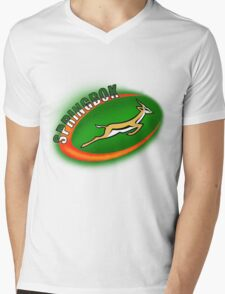 SPRINGBOK RUGBY SOUTH AFRICA Mens V-Neck T-Shirt