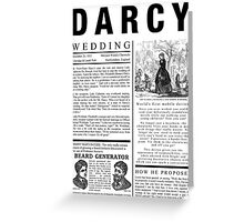 Pride & Prejudice Darcy Announcement Greeting Card