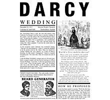 Pride & Prejudice Darcy Announcement Photographic Print