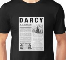 Pride & Prejudice Darcy Announcement Unisex T-Shirt
