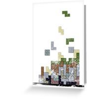 MineTetris Greeting Card