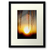 Icicles.. Framed Print