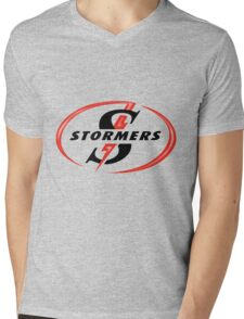 STORMERS SOUTH AFRICA RUGBY WP PROVINCE SUPER 15 RUGBY Mens V-Neck T-Shirt