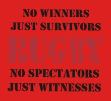 NO WINNERS JUST SURVIVORS RUGBY Kids Clothes
