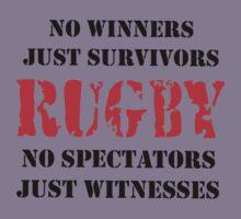 NO WINNERS JUST SURVIVORS RUGBY Kids Tee