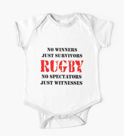 NO WINNERS JUST SURVIVORS RUGBY One Piece - Short Sleeve