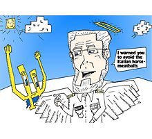 Euroman and Dr. Koop caricature binary options news Photographic Print
