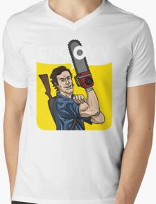 Evil Dead - We Can Do It parody Mens V-Neck T-Shirt