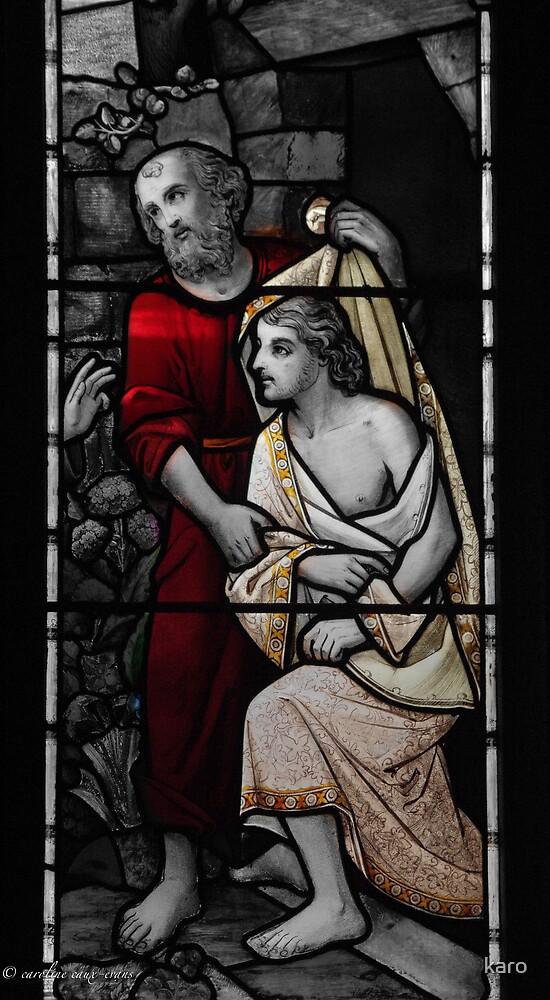 Jesus & Jonh the Baptist by karo