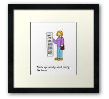 Middle age list. Framed Print