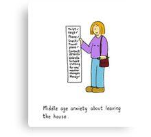 Middle age list. Canvas Print
