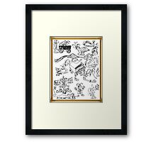 A Fool's Drawings Framed Print