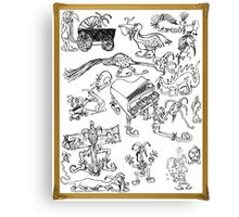 A Fool's Drawings Canvas Print