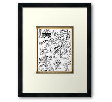 Jester Scribble Framed Print