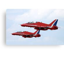 Red Arrows Pair Canvas Print