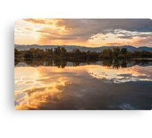 Sawhill Reflections - Colorado Sunset Canvas Print