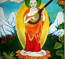 Indrashakra Thangka  by Noah Heyman