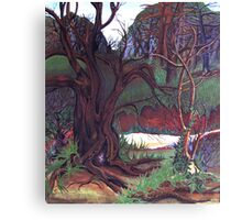 my home in the woods . . . . Canvas Print