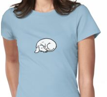 Curled up dachs Womens Fitted T-Shirt