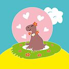 Capybara in Love by Vac1