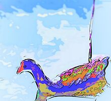 Floating moorhen 2 by ♥⊱ B. Randi Bailey