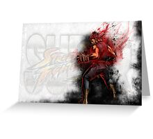 Super Street Fighter 4 - Raging Demon Greeting Card