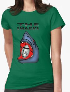 NATAL SHARKS SHARK ATTACK FOR SOUTH AFRICA RUGBY SUPER RUGBY Womens Fitted T-Shirt