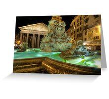 Fountain At Pantheon Greeting Card
