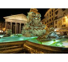 Fountain At Pantheon Photographic Print