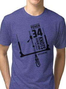 Power 34 Knots Kitesurfing Light Tri-blend T-Shirt