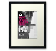 Creative Quote Design 001 Saul Bass Framed Print