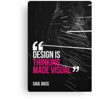 Creative Quote Design 005 Saul Bass Canvas Print