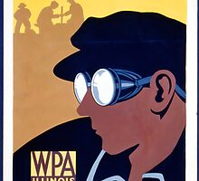 Steam Punk WPA Vintage Safety Poster by Edward Fielding