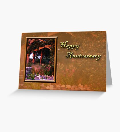 Happy Anniversary Woods Greeting Card