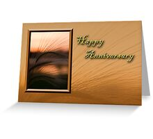 Happy Anniversary Grass Sunset Greeting Card