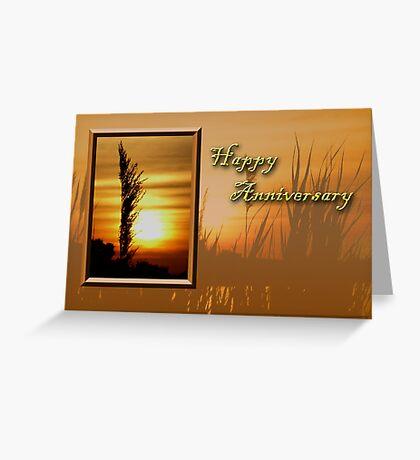 Happy Anniversary Sunset Greeting Card
