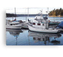Wintertime View of Keyport to Poulsbo Canvas Print