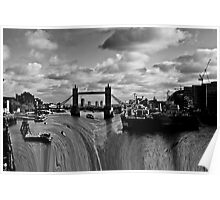 River Thames Waterfall Poster