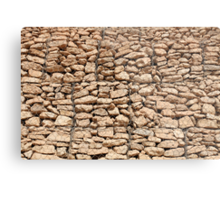 wall of gabions Metal Print