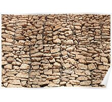 wall of gabions Poster