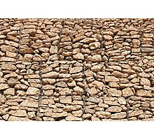 wall of gabions Photographic Print