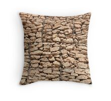 wall of gabions Throw Pillow